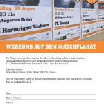 Flyer Matchplakat SCAB