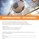 Flyer Matchballspende SCAB