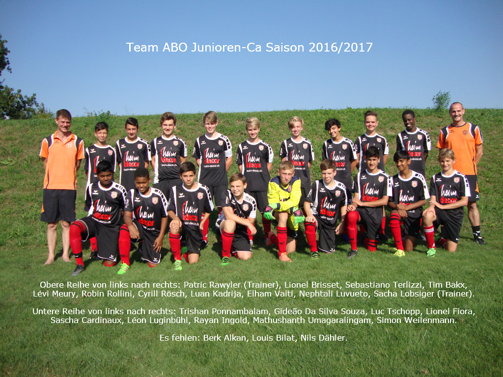 Junioren Ca, Saison 2016/2017